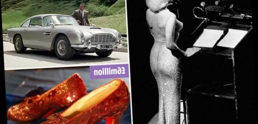 The iconic celebrity memorabilia worth millions – from Marilyn Monroe's £4m dress to James Bond's £5.2m Aston Martin – The Sun