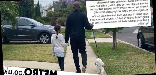 Black man explains why he never goes for walks alone in his white neighbourhood