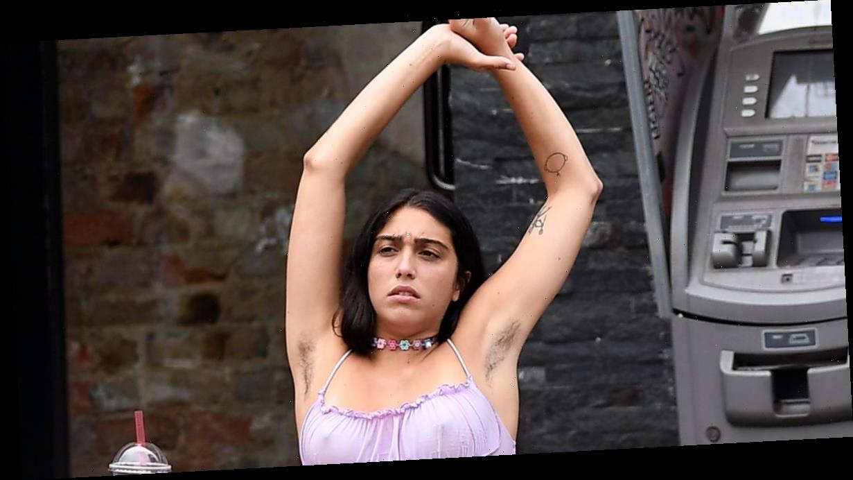 Madonna's daughter Lourdes proudly embraces armpit hair as she enjoys lunch with friends in NYC