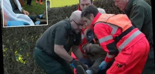 Helicopter ER: Man, 87, rescued after he was left in cold for 7 hours