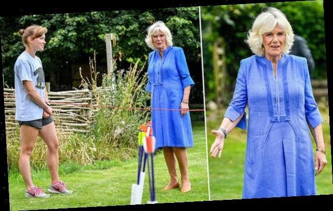 Duchess of Cornwall looks relaxed during an engagement in Wiltshire