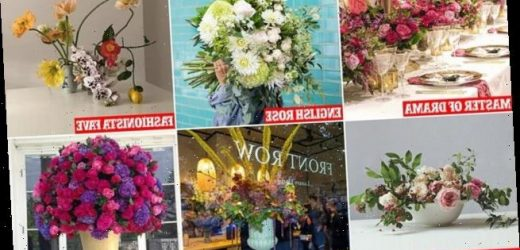 Bouquets as hot as a designer handbag:They're the 'it' accessory
