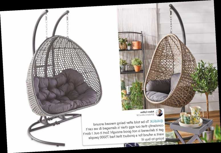 Aldi customers furious as sold-out hanging egg chairs arrive dented and ripped – The Sun