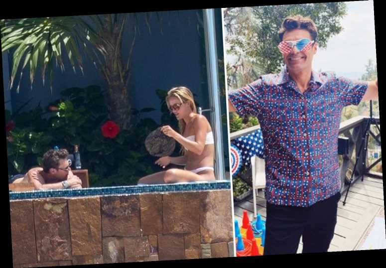 Ryan Seacrest is all smiles celebrating July 4th after Shayna Taylor split and packing on PDA with a mystery woman – The Sun