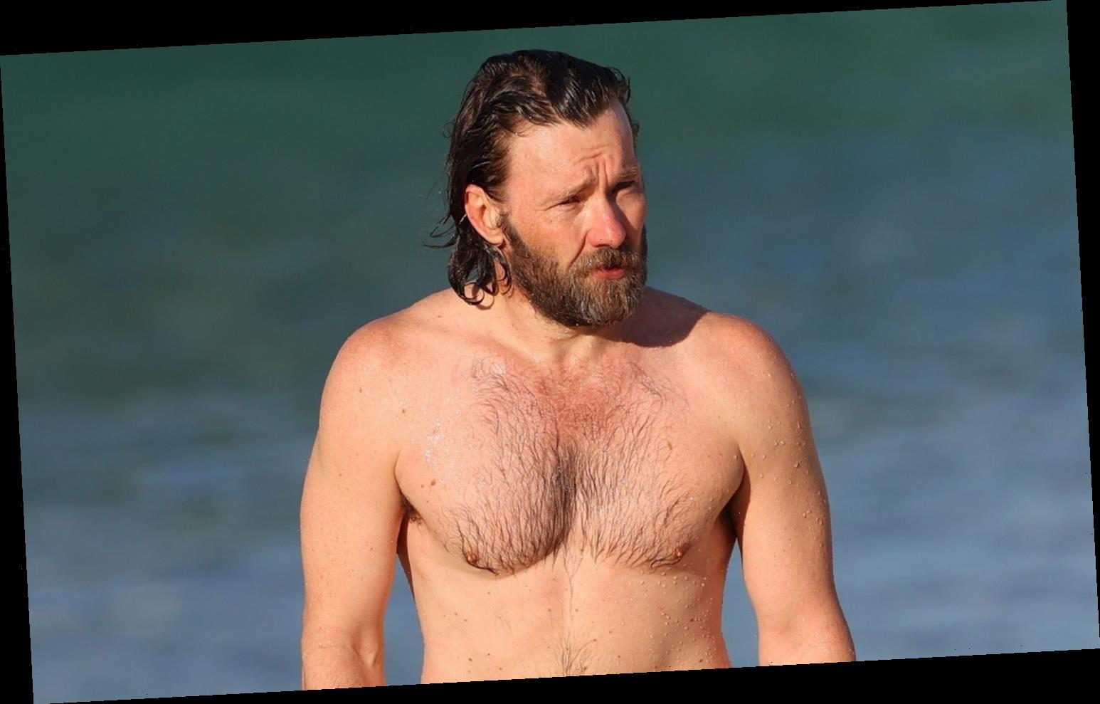 Joel Edgerton Goes Shirtless at the Beach in Sydney!