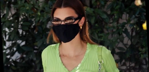 Kendall Jenner Gets Lunch in a Cute Green Crop Top – Get It Now for Just $45!