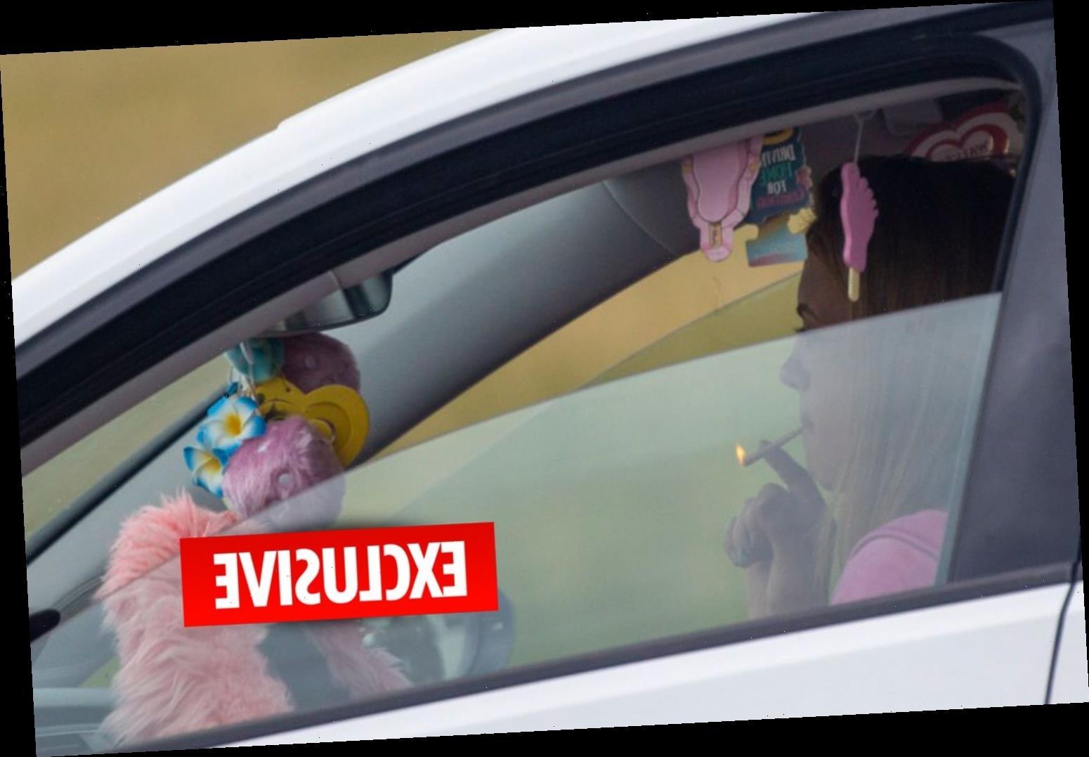 EastEnders star Maisie Smith caught smoking spliff behind the wheel