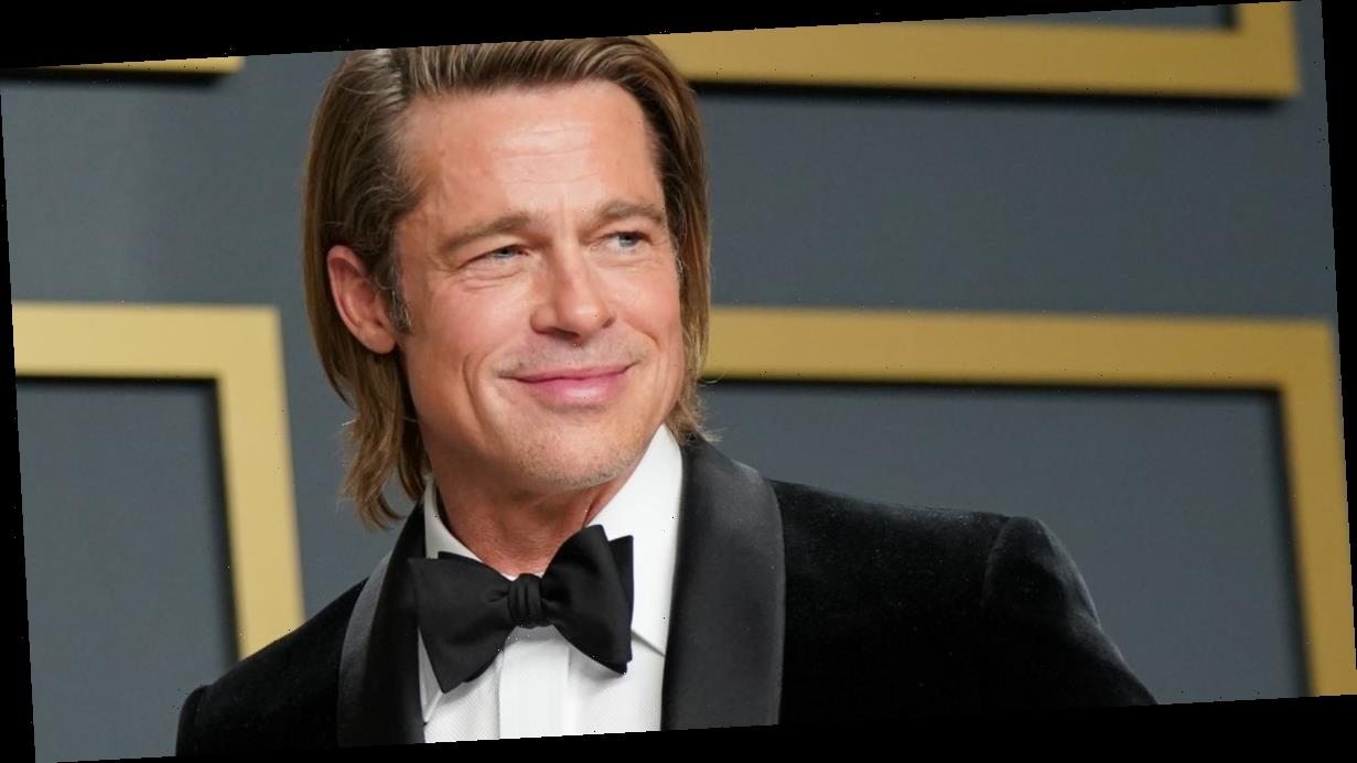 Brad Pitt seen arriving in France with rumoured love interest Nicole Poturalski
