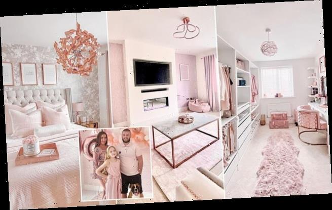 Mother spends £50k turning her home into a pink and rose gold palace