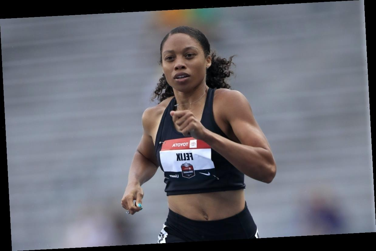 Allyson Felix Has A Genius Tip For Exercising With A Mask On