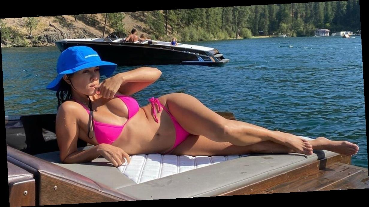 Kourtney Kardashian flaunts boobs in microscopic bikini for jaw-dropping exposé