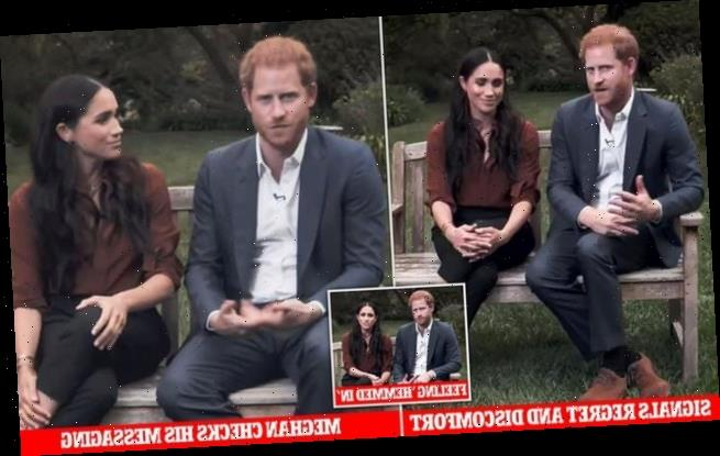 Prince Harry looked 'tense' when he spoke about the US election