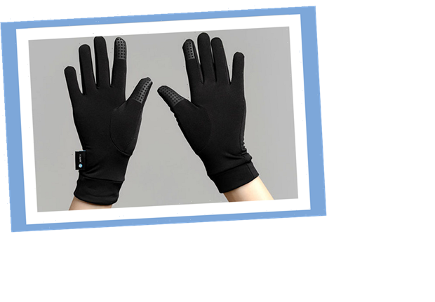 These reusable gloves are made from 100% certified recycled material