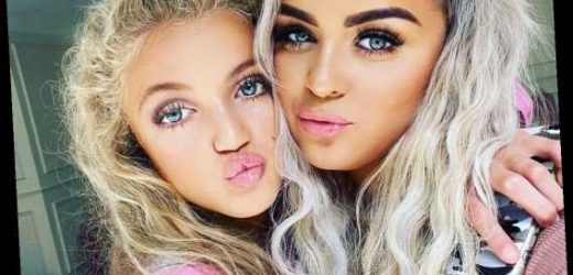 Katie Price's daughter Princess, 13, wears a full face of makeup with fake lashes and copies her mum's famous pout