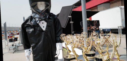 2020 Emmy Awards: First Look at Dapper Hazmat Suited Trophy Presenter