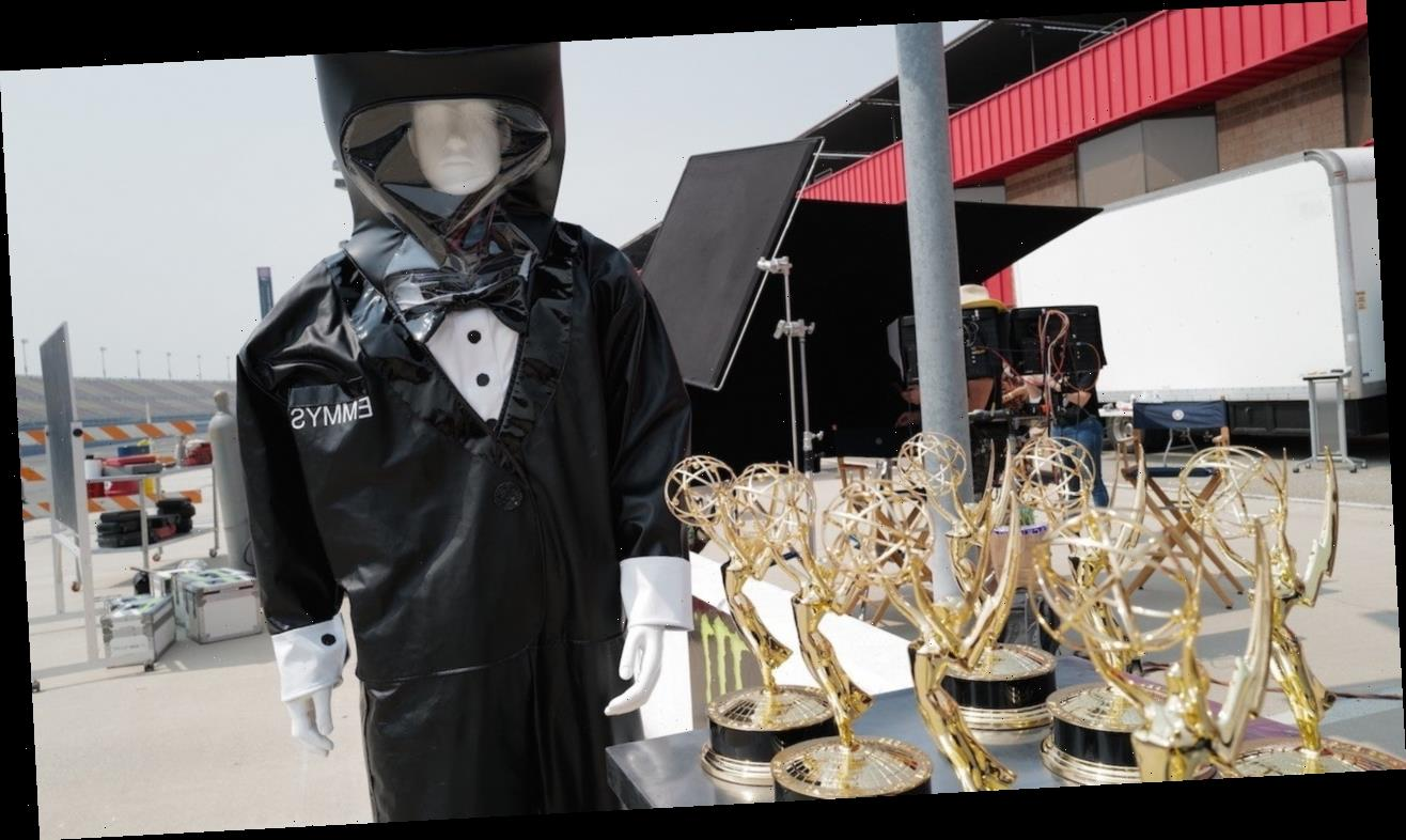 2020 Emmy Awards: First Look at Dapper Hazmat Suited Trophy Presenter