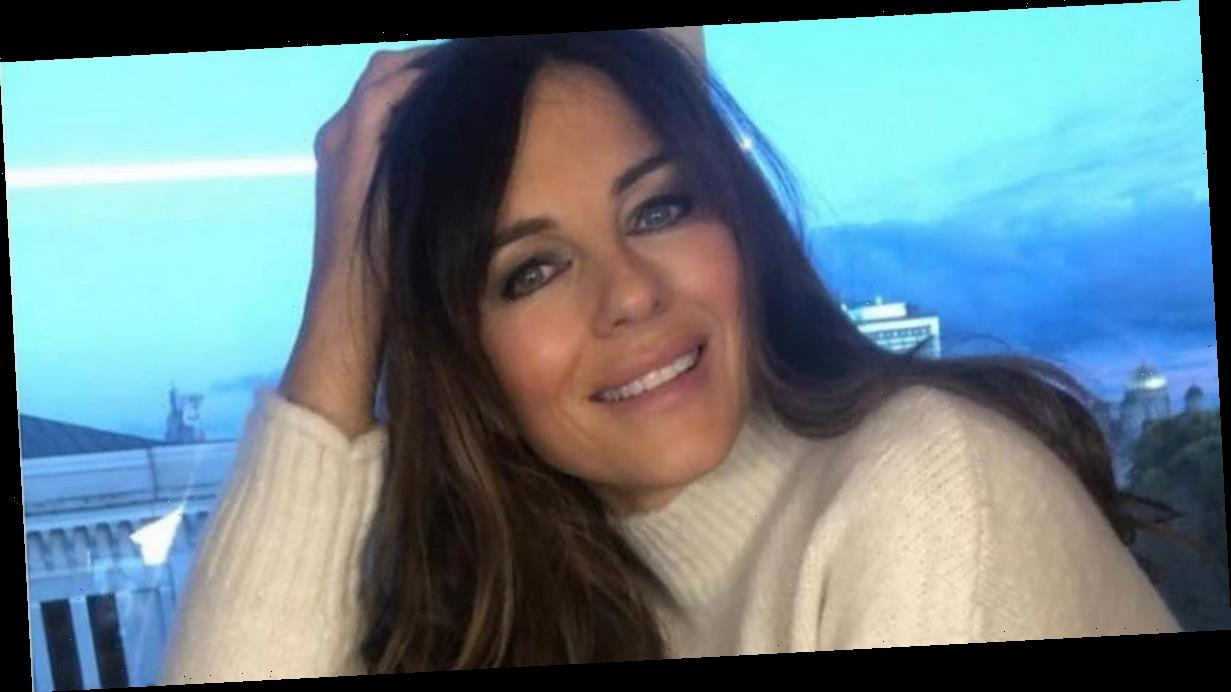 Liz Hurley risks total exposure as she flashes killer curves in bottomless snap