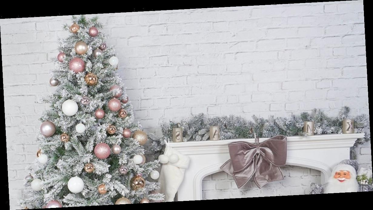 Festive shoppers obsessed with £35 snowy Christmas tree from Home Bargains