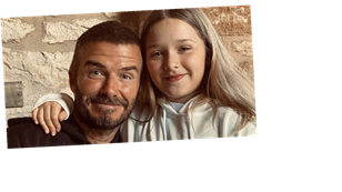David Beckham shares sweet note from daughter Harper as she makes him and Victoria breakfast