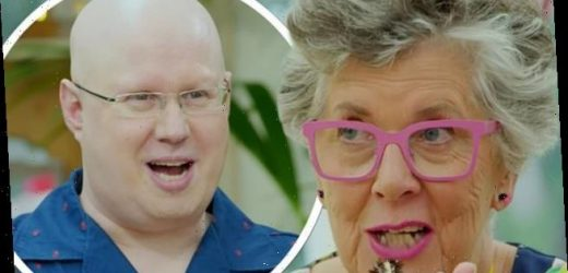 GBBO fans in hysterics over Matt Lucas' 'Pruegasm' joke