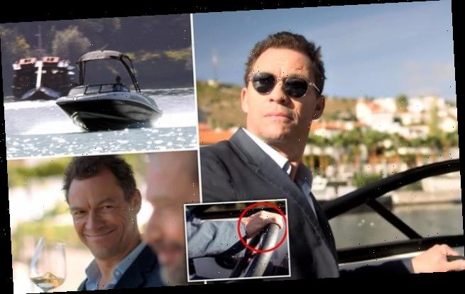 Action man Dominic West plays at being 007 in new video clip