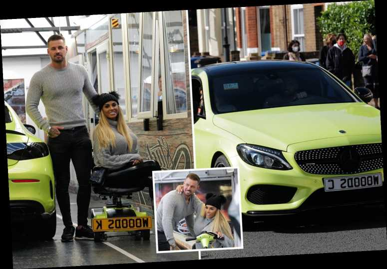 Katie Price sparks marriage rumours as she reveals her K WOODS registration plates after taking boyfriend's surname