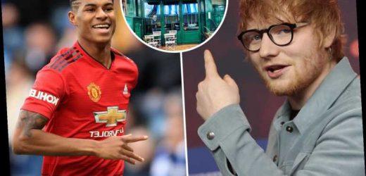 Ed Sheeran is backing Marcus Rashford to feed school kids by opening his own breakfast club at his London restaurant