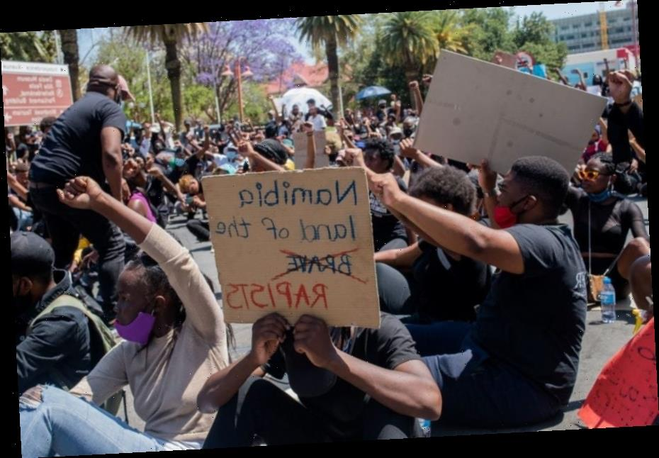 #ShutItAllDown: Namibia Police Use Tear Gas, Rubber Bullets To Disperse Gender-Based Violence, Femicide Protests