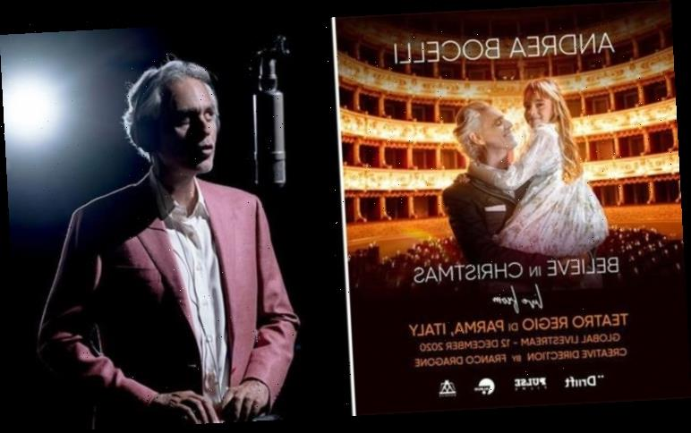 Andrea Bocelli announces livestream Believe in Christmas concert – How to get tickets