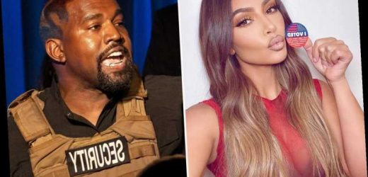 Kim Kardashian shares and deletes election selfie as husband Kanye West's presidential dreams crumble – The Sun