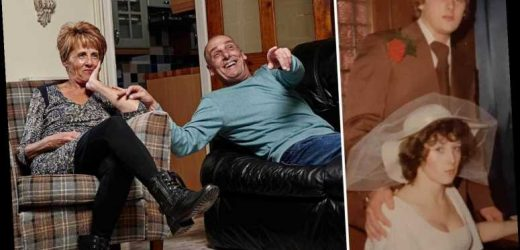 Gogglebox's Dave and Shirley look completely different in adorable wedding picture as they celebrate 45 years together