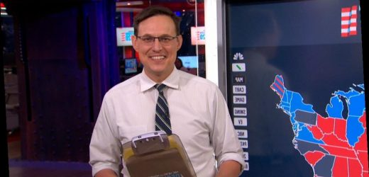 Steve Kornacki's Election Night Tie Was Held Together by Staples
