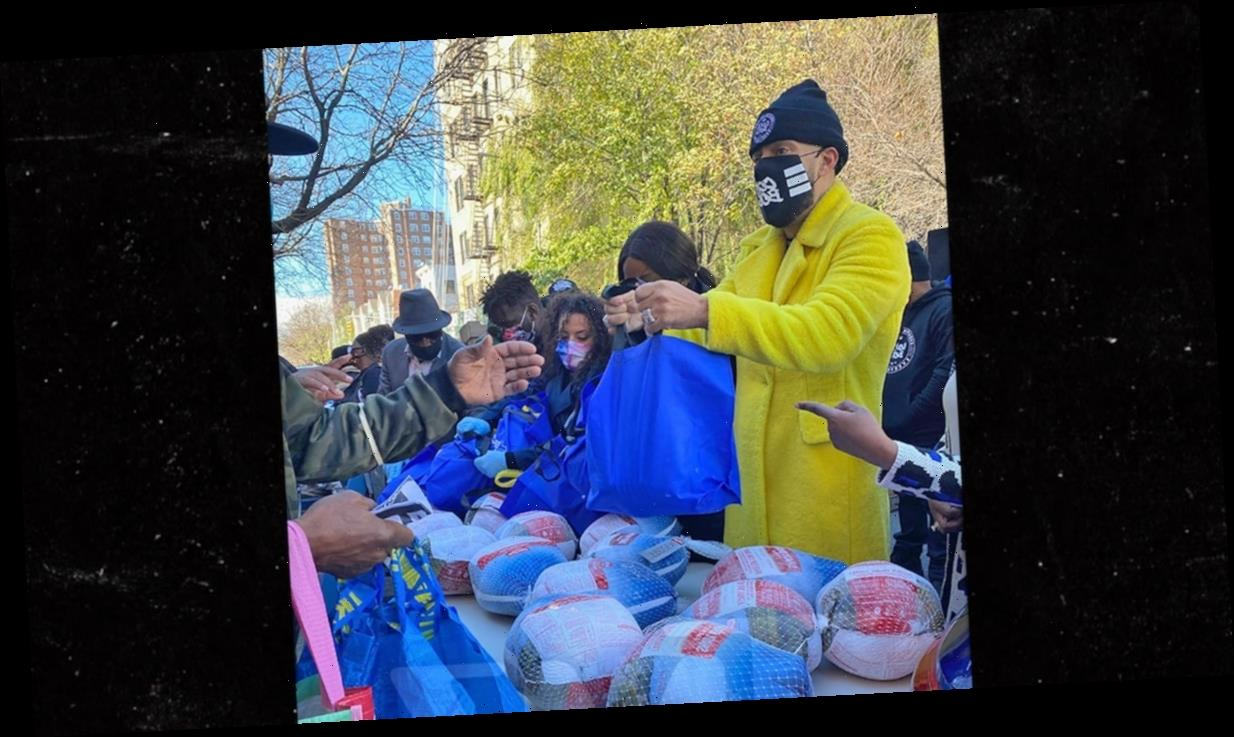 French Montana Helps Hand Out 500 Thanksgiving Turkeys in the Bronx