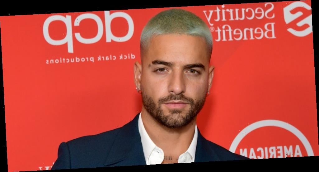 Maluma Hits Red Carpet in Sharp Suit Ahead of AMAs 2020 Performance with Jennifer Lopez