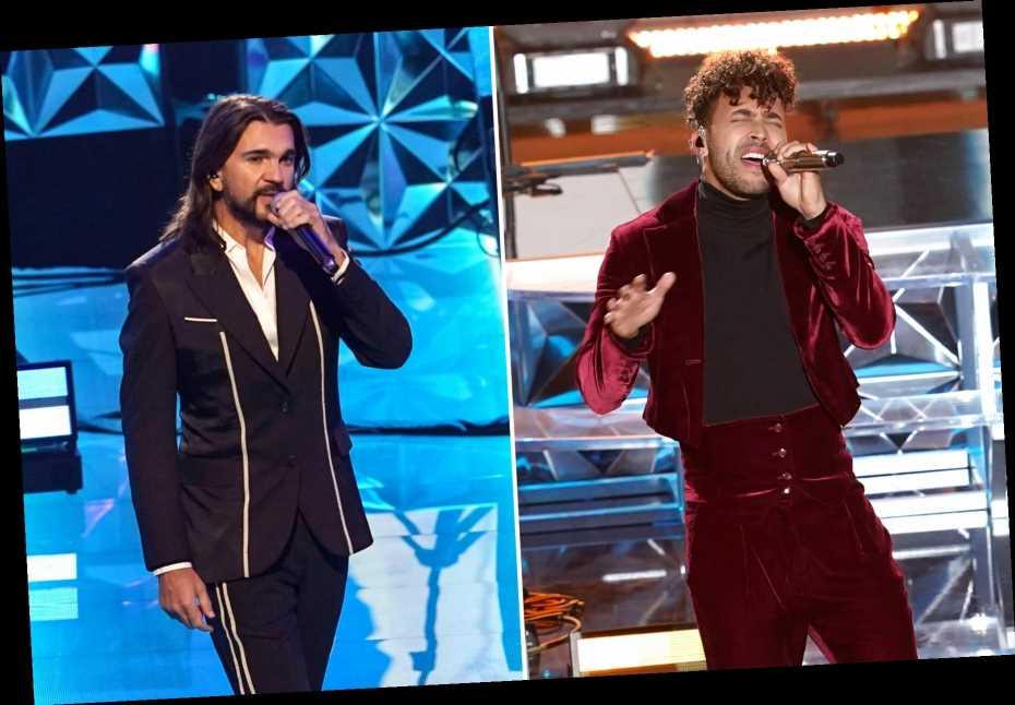 Juanes, Prince Royce Salute 'Living Legends' Roberto Carlos, Juan Luis Guerra at Latin Grammys