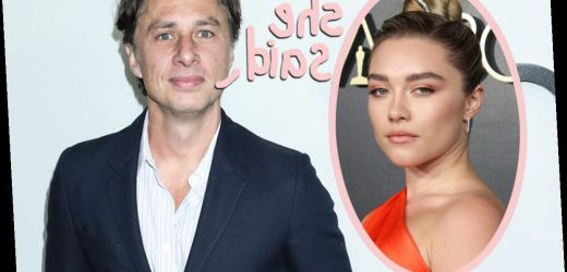 Zach Braff Finally Explains Why He's Stayed Quiet About Florence Pugh Age Gap Criticism