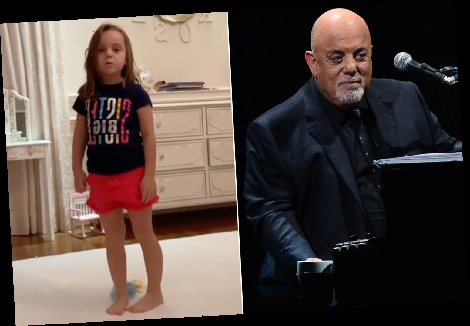 Billy Joel's 5-year-old daughter Della sings in a new video