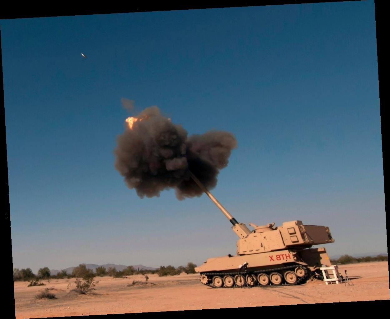 US army 'supergun' breaks record with direct hit on target 43 MILES away with Excalibur guided shell