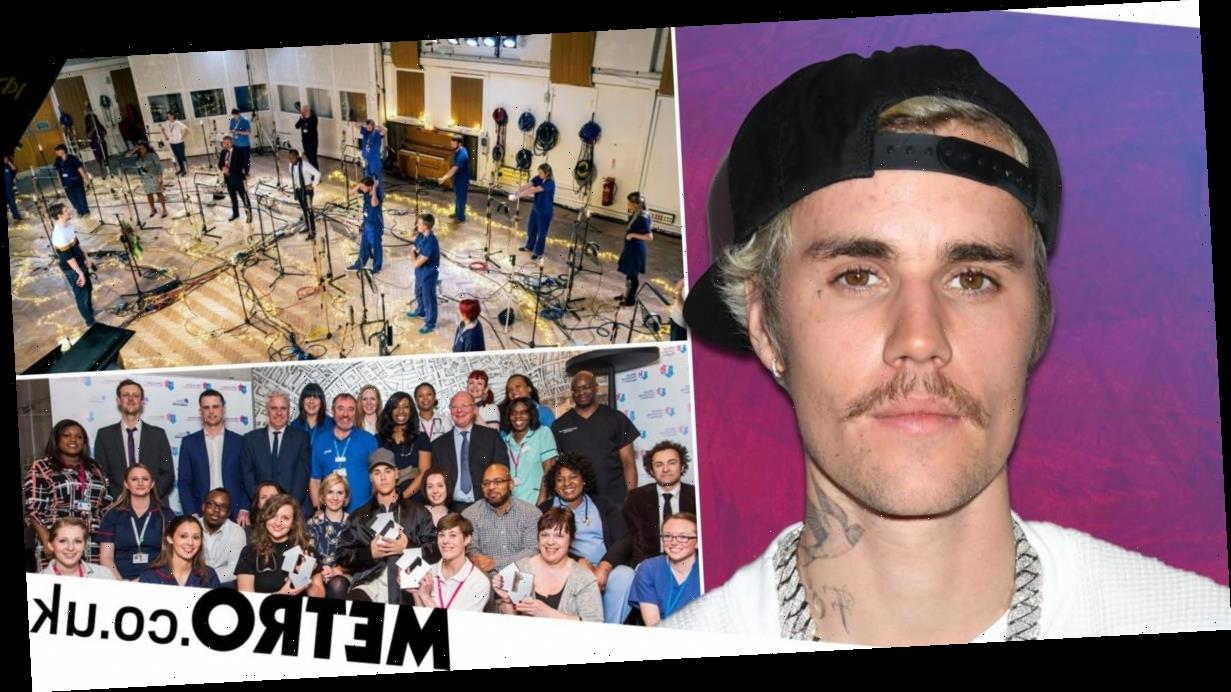 Justin Bieber 'in awe' of NHS Choir as they reunite for Christmas song