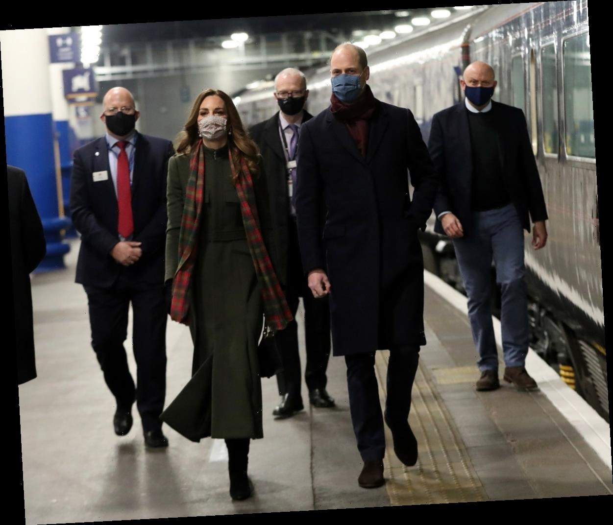 The Duke & Duchess of Cambridge's tour began with a train station concert