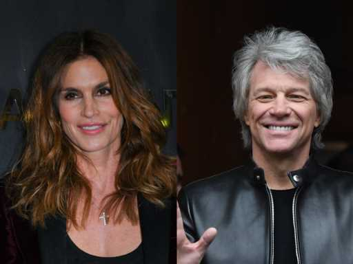 Remember When Cindy Crawford & Jon Bon Jovi Made a Christmas Music Video Together?