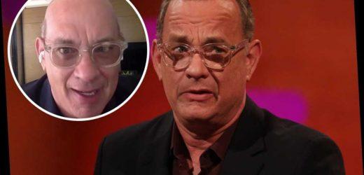 Tom Hanks shows off 'horrible' bald haircut for 'Elvis' role