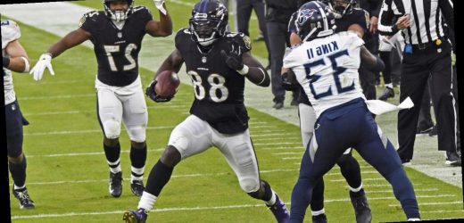 Baltimore Ravens receiver Dez Bryant says he tested positive for COVID-19 minutes before kickoff