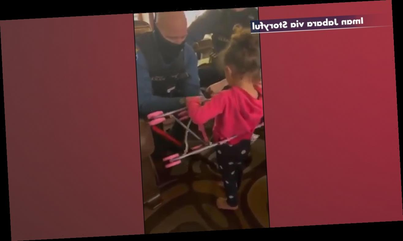 New Jersey police officers rescue girl from doll stroller, buy her a new one