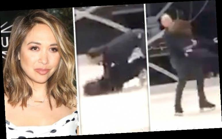 Myleene Klass: Excruciating moment Dancing On Ice star slams head seen in backstage video