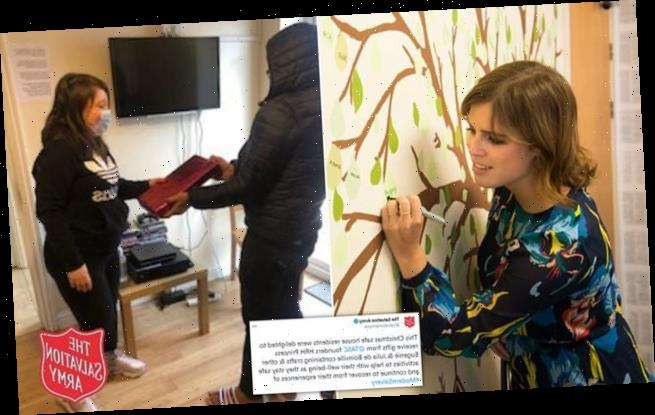 Princess Eugenie gave Salvation Army safe house residents gifts