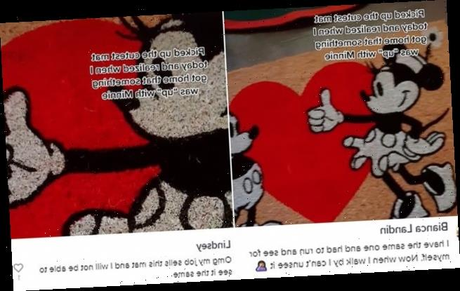 Woman spots VERY rude detail on Minnie Mouse doormat