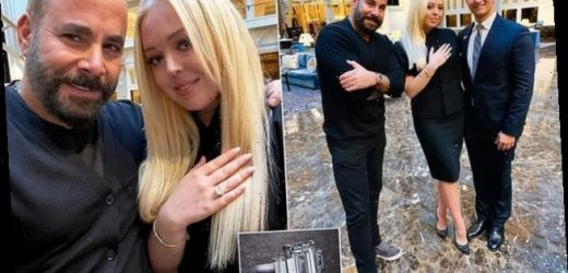 Tiffany Trump shows off her 13-CARAT engagement ring from her fiancé