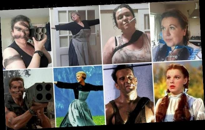 Woman recreates looks of famous movie characters