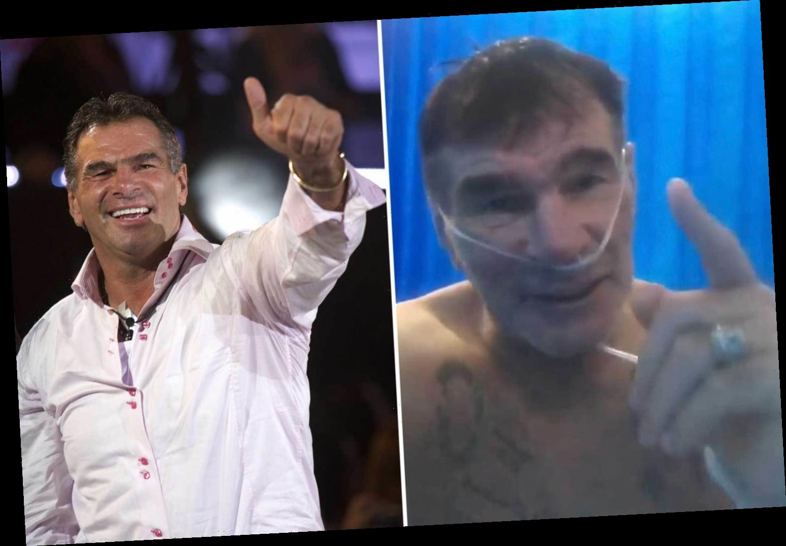 Covid-hit Paddy Doherty warns virus is 'no joke' in shocking video after hospital dash